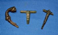 A very cheap group of 3 assorted Roman bronze Fibula Brooches from North Yorkshire (Group 2)